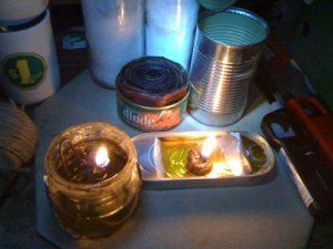 3 different types of veggie oil lamps