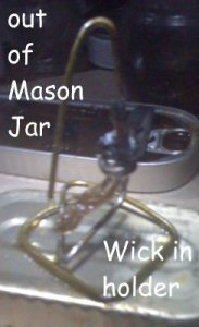 metal wick holder for mason jar lamp