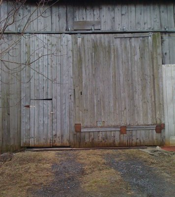 pic of barn door large and small door